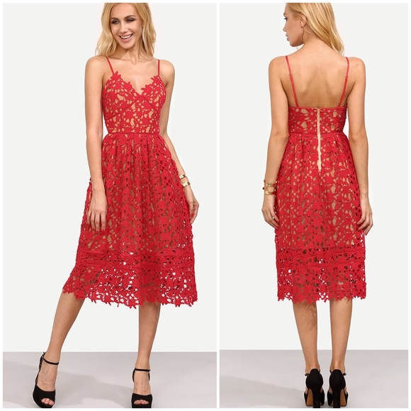 25ae4441ef51 Hollow Out Fit   Flare Cami Midi Dress